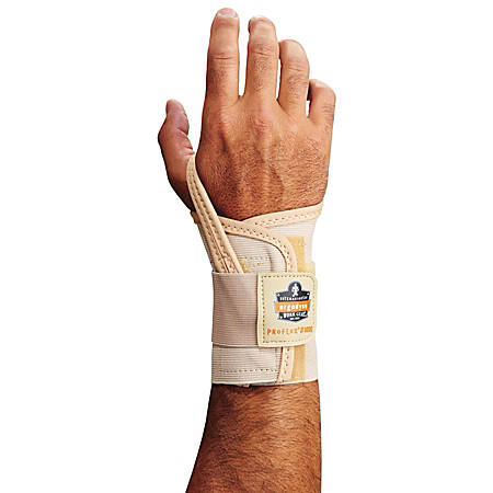 Ergodyne ProFlex 4000 Single-Strap Neoprene Wrist Support, Right, Small, Tan