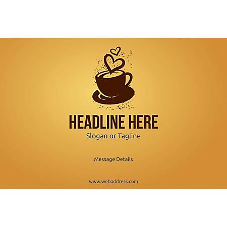 Custom Poster, Love for Coffee, Horizontal