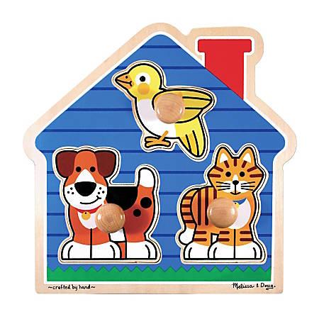 Melissa & Doug House Pets 3-Piece Jumbo Knob Puzzle