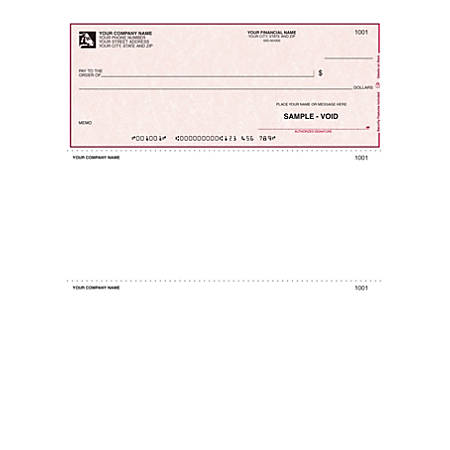 "Custom Laser Multipurpose Voucher Checks With Lines For Quicken® / Quickbooks® / Microsoft®, 8 1/2"" x 11"", 1 Part, Box Of 250"