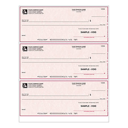 "Custom Laser Multipurpose Draft Checks With Lines For Quicken® / Quickbooks® / Microsoft®, 8 1/2"" x 11"", 1 Part, Box Of 250"