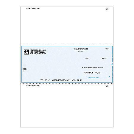 "Laser Multipurpose Voucher Checks For Sage Peachtree®, 8 1/2"" x 11"", 1 Part, Box Of 250"