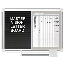 MasterVision InOut Magnetic Dry Erase And
