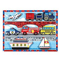 Melissa Doug Vehicles Chunky Puzzle