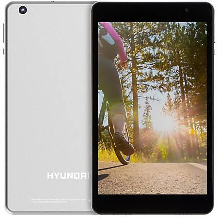 "Hyundai Koral 8W2 Tablet - 8"" - 2GB RAM - 16GB Storage - Android 9.0 Pie - Silver - Rockchip RK3326 SoC - ARM Cortex A35 Quad-core (4 Core) 1.50 GHz - microSD, microSDHC Supported - 2 Megapixel Front Camera - 5 Megapixel Rear Camera"