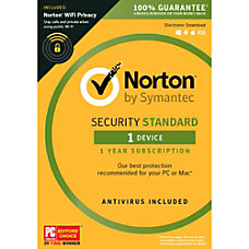 Norton Security Standard 1 User 1