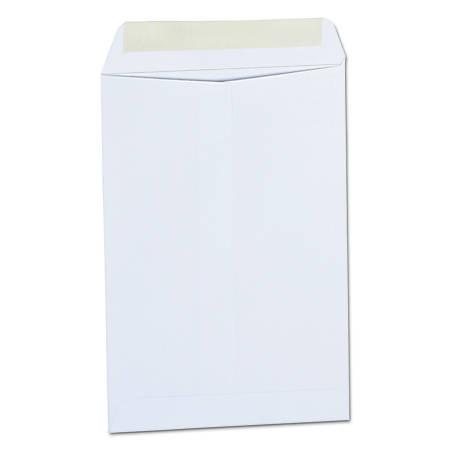 "Universal® Catalog Envelopes With Gummed Closure, Center Seam, 24 Lb, 6 1/2"" x 9 1/2"", White, Box Of 500"