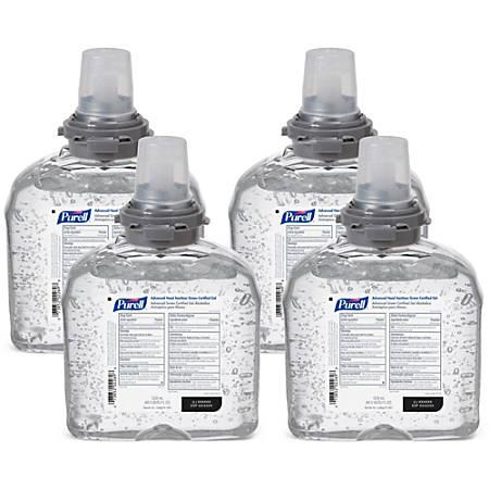 Gojo TFX Instant Hand Sanitizer Refill - 40.6 fl oz (1200 mL) - Kill Germs - Hand, Skin - Clear - Dye-free, Fragrance-free, Moisturizing, Durable - 4 / Carton