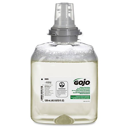 Gojo Green Certified Foam Soap TFX Dispnsr Refill - 40.6 fl oz (1200 mL) - Hand - Green - 2 / Carton