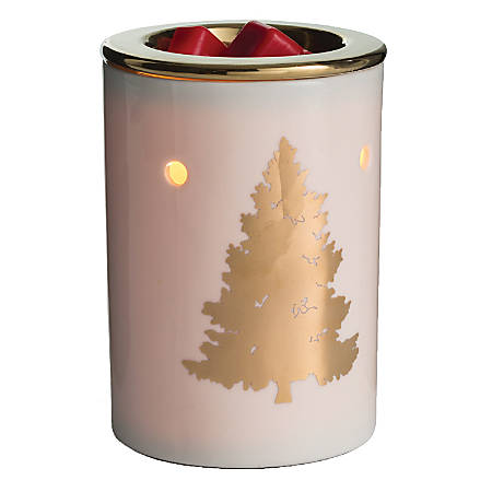 """Candle Warmers Etc Illumination Fragrance Warmers, 8-13/16"""" x 5-13/16"""", Golden Fir, Case Of 6 Warmers"""
