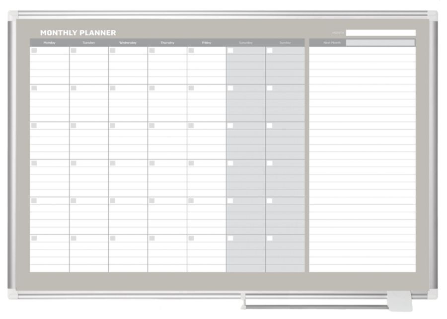 Mastervision Dry Erase Monthly Calendar Board 36 X 48 Office Depot