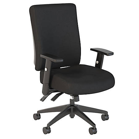 Bush Business Furniture Accord High-Back Deluxe Multifunction Office Chair, Black Fabric, Premium Installation