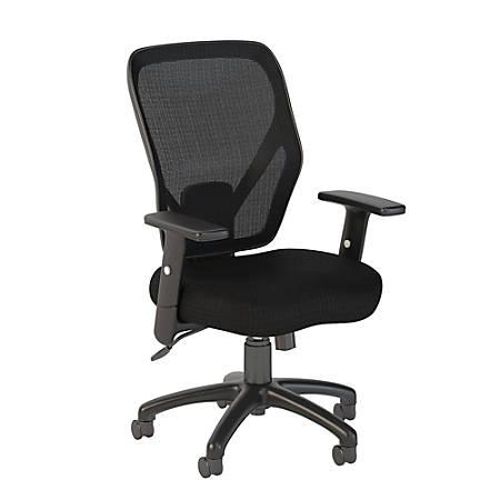 Bush Business Furniture Accord Mesh Back Office Chair, Black Fabric, Premium Installation