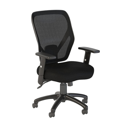 Bush Business Furniture Accord Mesh Back Office Chair, Black Fabric,  Premium Installation Item # 7343873