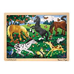 Melissa Doug Frolicking Horses 48 Piece