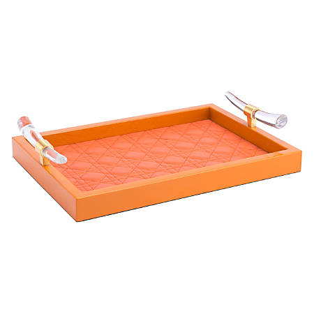 Zuo Modern Gina Tray, Orange