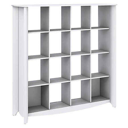 Bush Furniture Aero 16 Cube Bookcase/Room Divider, Pure White, Standard Delivery