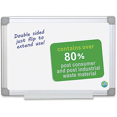 """MasterVision EasyClean Dry-erase Board - 24"""" (2 ft) Width x 18"""" (1.5 ft) Height - White Melamine Surface - Silver Aluminum Frame - Rectangle - Wall Mount - 1 Each"""