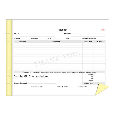 "Create Your Own Multi-Part Forms, Custom NCR 2-Part Booklet, 5 1/2"" x 8 1/2"", Pack Of 5"