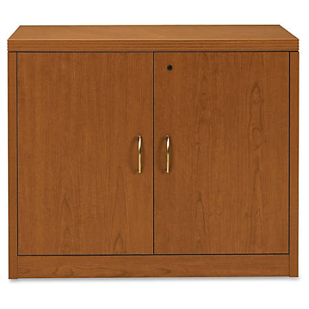 "HON Valido Storage Cabinet - 36"" x 20"" x 29.5"" - File Drawer(s) - 1 Shelve(s) - Ribbon Edge - Material: Particleboard - Finish: Laminate, Bourbon Cherry"
