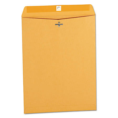"Universal® Center-Seam Envelopes With Clasp Closure, 32 Lb, #93, 9 1/2"" x 12 1/2"", Brown Kraft, Box Of 100"