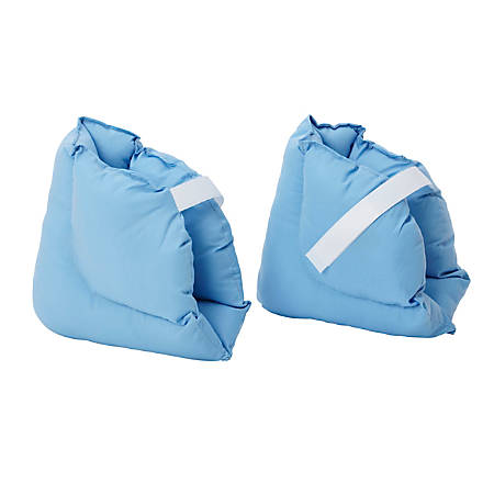DMI® Soft Comforting Heel Protector Pillows, Blue, Pack Of 2