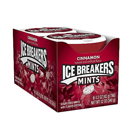 Ice Breakers® Sugar-Free Mints, Cinnamon, 1.5 Oz, Box Of 8