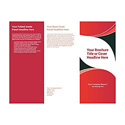 Customizable Trifold Brochure BlackPink Curves
