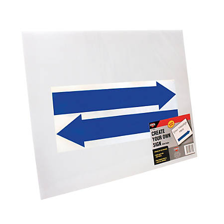 "Cosco® Large Blank Sign With Vinyl Arrows And Stake, 19"" X 15"", White"