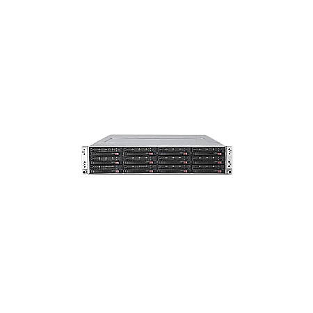 Supermicro SuperServer 6026TT-D6IBQRF Barebone System - 2U Rack-mountable - Intel 5520 Chipset - Socket B LGA-1366 - 2 x Processor Support - Black