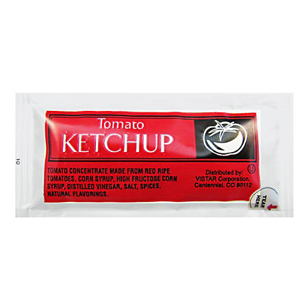 Vistar Single-Serve Ketchup Packets, 0.25 Oz, Pack Of 200