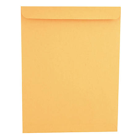"Universal® Catalog Envelopes With Gummed Closure, Center Seam, 28 Lb, 10"" x 13"", Brown Kraft, Box Of 250"