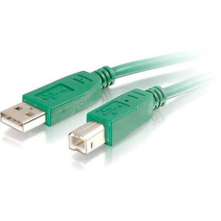 C2G 2m USB 2.0 A/B Cable - Green - Type A Male USB - Type B Male USB - 6.56ft