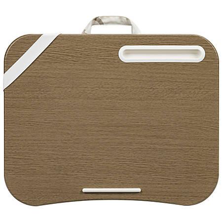"""LapGear Designer Lap Desk, 17-3/4"""" x 13-3/4"""", Beige Quatrefoil"""