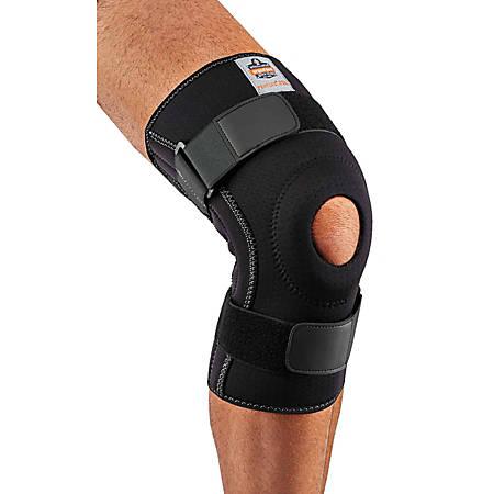 Ergodyne Proflex® Knee Sleeve, 620 With Open Patella/Spiral Stays, Large, Black