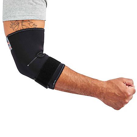 Ergodyne ProFlex® 655 Elbow Sleeve With Strap, Medium, Black