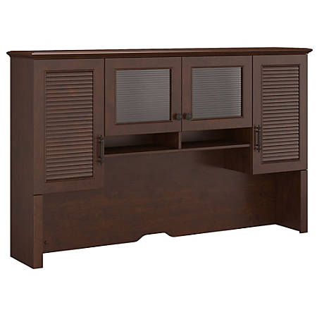 "kathy ireland® Office by Bush Furniture Volcano Dusk Hutch, 68""W, Coastal Cherry, Standard Delivery"