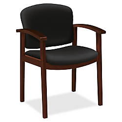 HON Invitation Guest Chair Fabric Black