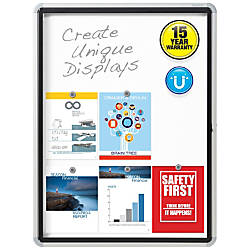 Quartet Enclosed Magnetic Whiteboard for Outdoor