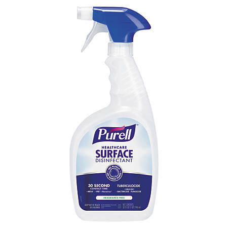 Purell® Healthcare Surface Disinfectant, Unscented, 32 Oz, Case Of 3