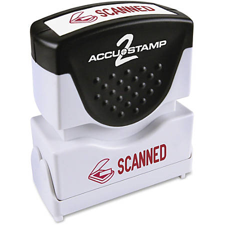 """COSCO Message Stamp, """"SCANNED"""", Red"""
