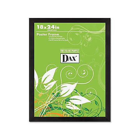 "DAX Ebony Wood Poster Frame - Holds 18"" x 24"" Insert - Wall Mountable - Vertical, Horizontal - 1 Each - Wood - Black"