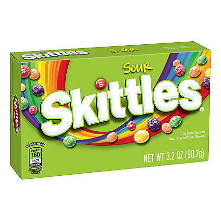Skittles Sour Theater-Style Boxes, Pack Of 12
