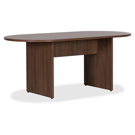 Lorell Essentials Oval Conference Table W Walnut By Office Depot - Office depot conference table