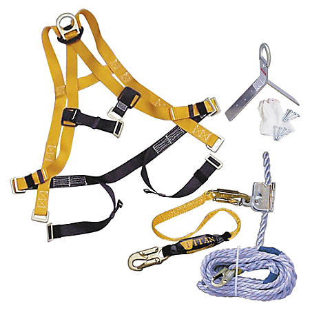 Honeywell Titan Roofing Fall Protection Kit, One Size, Yellow
