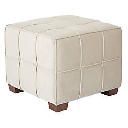 Ave Six Sheldon Tufted Ottoman KhakiCoffee