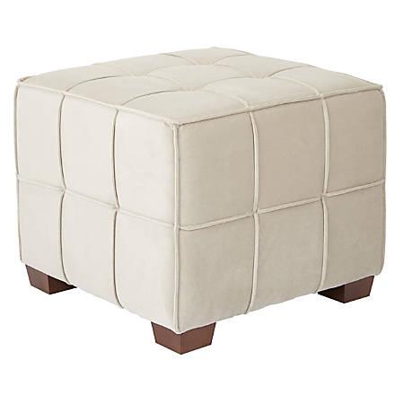 Wondrous Ave Six Sheldon Tufted Ottoman Khaki Coffee Item 7358449 Lamtechconsult Wood Chair Design Ideas Lamtechconsultcom