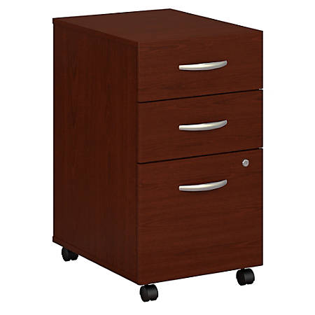 Bush Business Furniture Components 3 Drawer Mobile File Cabinet, Mahogany, Premium Installation