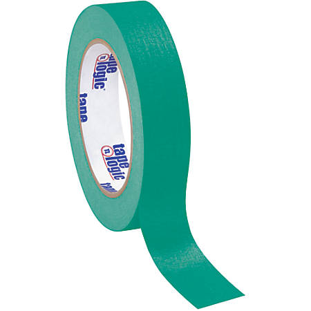 "Tape Logic® Color Masking Tape, 3"" Core, 1"" x 180', Dark Green, Case Of 12"