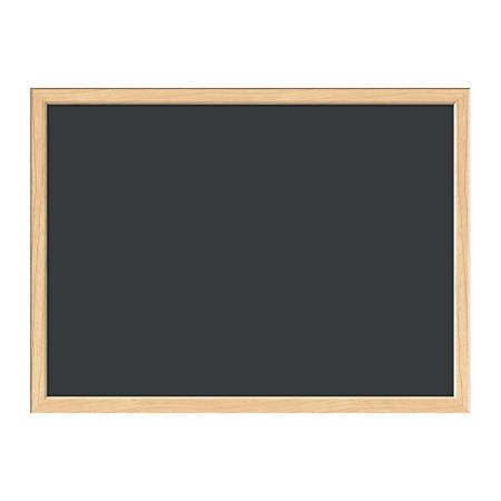 """U Brands Chalkboard, Melamine, 24"""" x 18"""", Black, Natural Birch MDF Frame"""